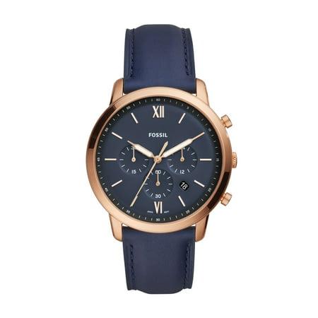 Fashion Chronograph Watch (Men's Neutra FS5454 Gold Leather Japanese Chronograph Fashion Watch )