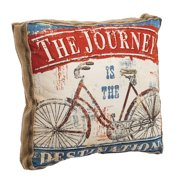 Cape Craftsmen The Journey is the Destination 20 inch Burlap Throw Pillow