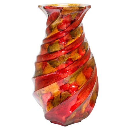 Heather Ann Creations Tinsley Foiled and Lacquered Table Vase - Tin Vase