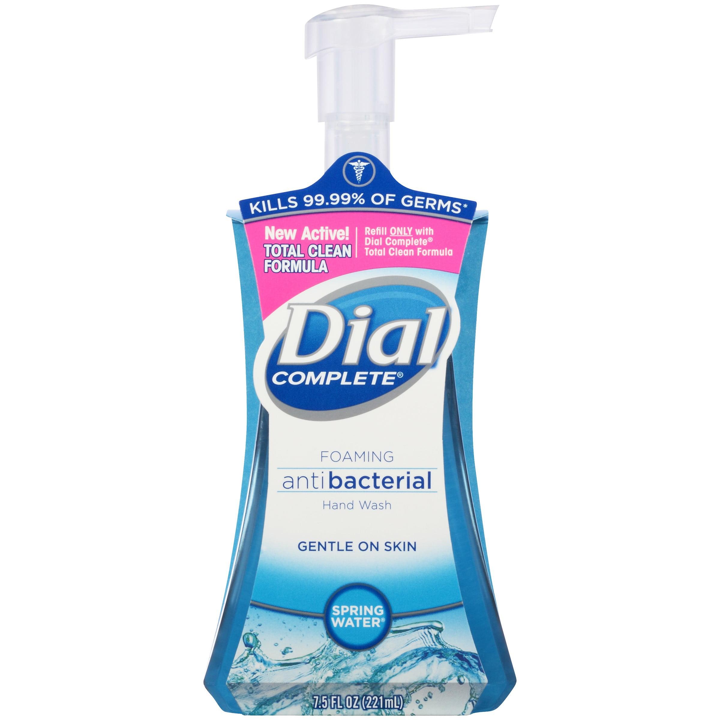 Dial Complete Foaming Antibacterial Hand Soap, Springwater, 7.5 Oz