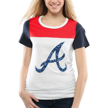 Atlanta Athletic Club - Atlanta Braves 5th & Ocean by New Era Women's Team Jelly Athletic T-Shirt - White