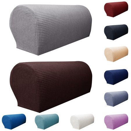 Yipa 1 Pair Sofa Armrest Covers Armchair Arm Covers Stretchy Furniture Protectors for Couch Chair Arm