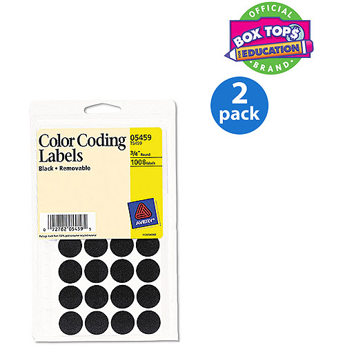 Avery Removable Self-Adhesive Color-Coding Labels, 3/4&quot ...