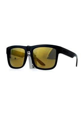 1c80883f6d5 Product Image Kush Mens Mirror Lens Gangster Oversize Horn Rim Cholo Sunglasses  Silver