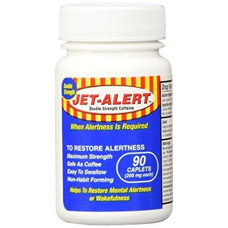 Jet-Alert Energy Stimulant Caffeine Pills, 200mg, 90 Count (Pack of 2)
