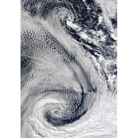 The sprawling S-shaped swirl is actually two cyclones that seem to be feeding on each other Stretched Canvas - Stocktrek Images (24 x - Cyclone Feed Adapter