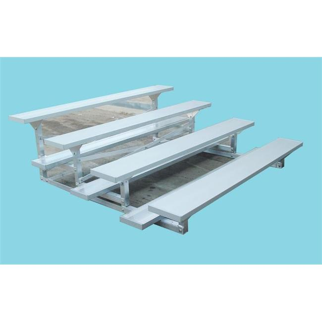 SSG-BSN LR0427P 4 Row 7.5 Feet Low Rise Bleacher by SSG / BSN