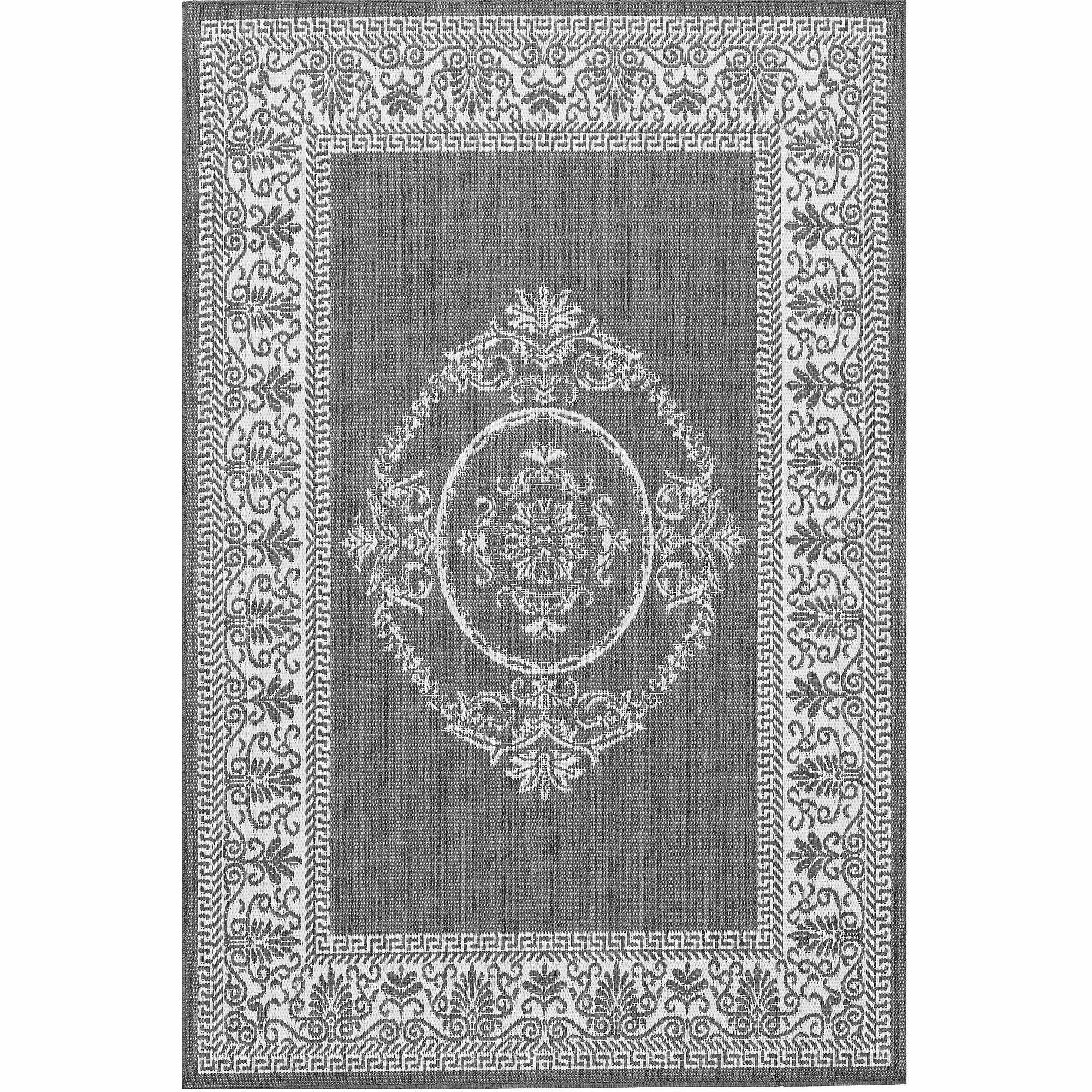 Couristan Recife Antique Medallion Rug, Grey/White