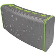 iHome Rechargeable Stereo Bluetooth Speaker with Speakerphone, Gray Green