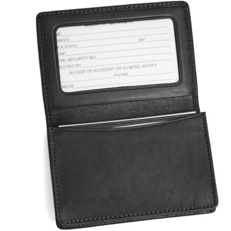 Classic Womens Business Card Case - Royce Leather Business Card Case Holder in Genuine Leather