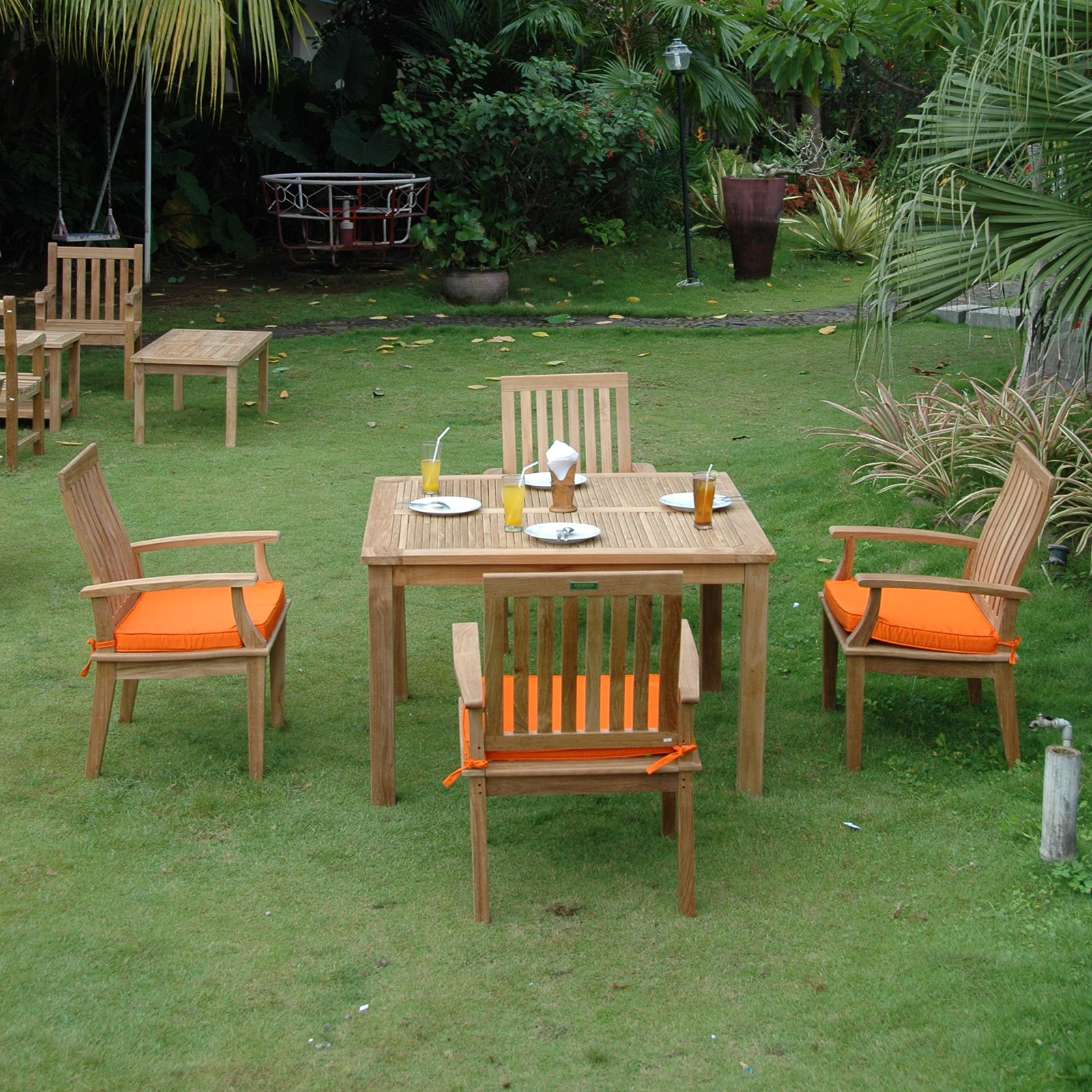 Click here to buy Anderson Teak Brianna 5 Piece Patio Dining Room Set by Anderson.
