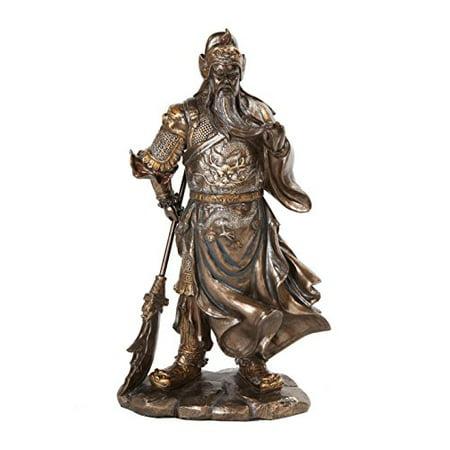 10630 Guan Yu Chinese Fighting Warrior Resin Statue Figurine,