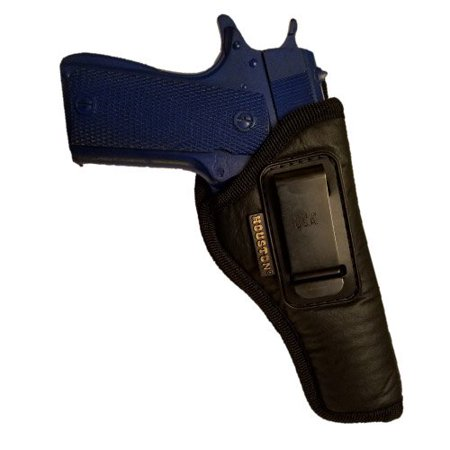 - IWB Gun Holster by Houston - ECO Leather Concealed Carry Soft Material | Suede Interior for Maximum Protection | FITS 1911 5