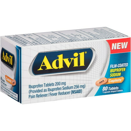 Advil Ibuprofène Analgésique / Fièvre Réducteur Caplets, 200mg, 80 count