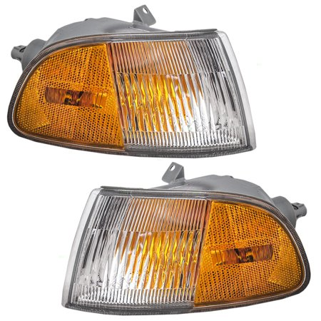 Side Replacement Signal Lamp (Driver and Passenger Signal Side Marker Lights Lamps Replacement for Honda 33350SR3A02 33300SR3A02 )