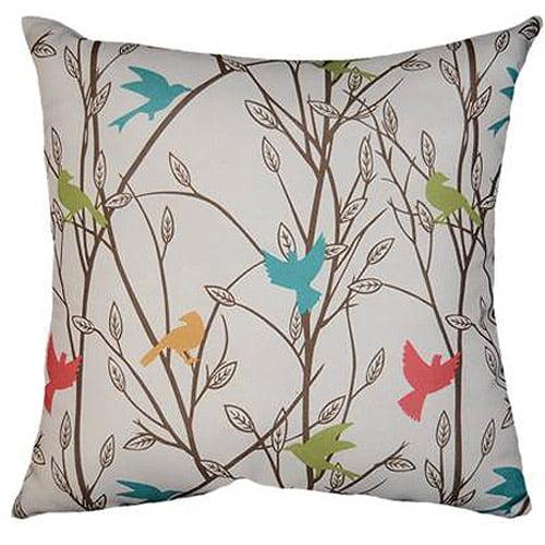 """Mainstays Bird Song Decorative Throw Pillow, 18""""x18"""""""