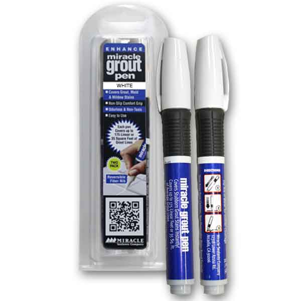 Miracle Sealants Grout Pen White (Two Pack)