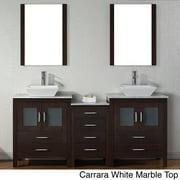 VIRTU USA  Dior 74 inch Double Sink Vanity Set in Espresso