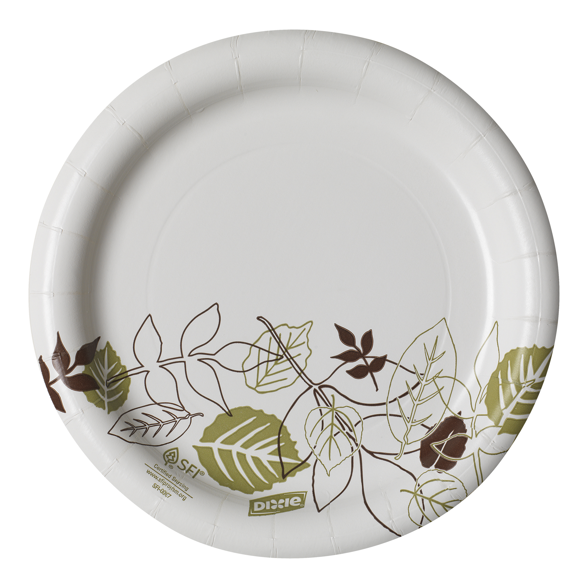 "Dixie® (UX7WS) Medium-Weight 7"" Paper Plate by Georgia-Pacific, Pathways®, 4 Packs of 125 Plates (500 Plates Total)"