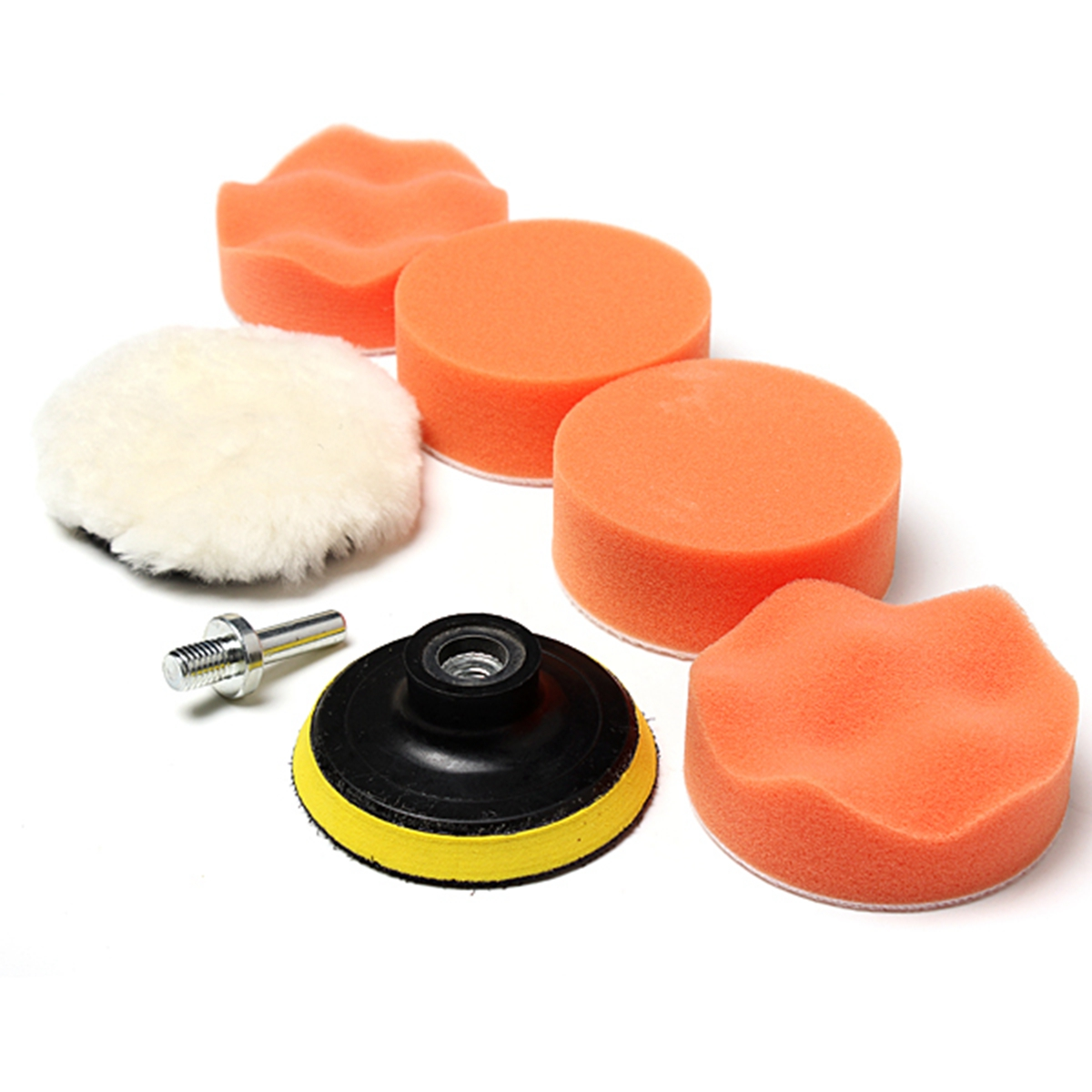 7Pcs Car Polisher Buffer Pad Car Sponge High Gross 75mm 3