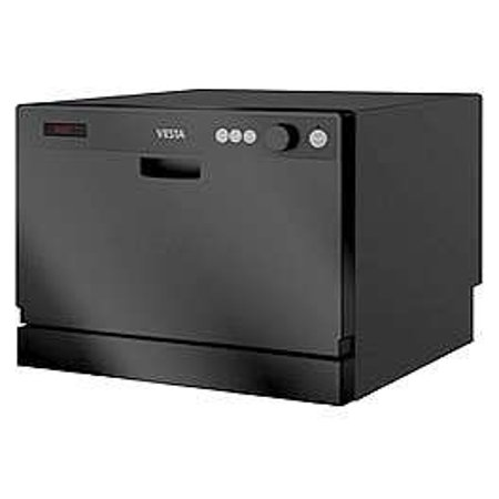 Westland DWV322CB Black 115 Volt Space-Saving Countertop Dishwasher