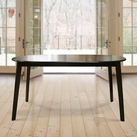 Warehouse of Tiffany Mario Cappuccino Dark Brown Wood 59-inch Oval Dining