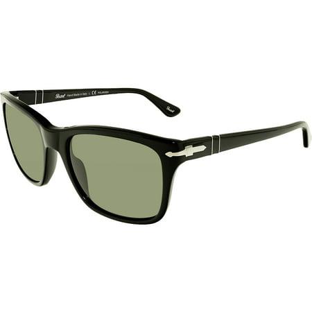 d8c9921140 Persol - Persol Men s Polarized PO3135S PO3135S-95 58-55 Black Square  Sunglasses - Walmart.com