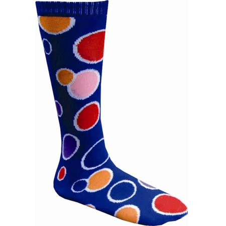 Dress up America Adult Size Circle Knee Socks (Blue) (America Size)