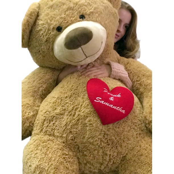 Baby Net For Stuffed Animals, Your Custom Personalized Name Or Message On 5 Foot Giant Teddy Bear Has Customized Heart On Chest Walmart Com Walmart Com