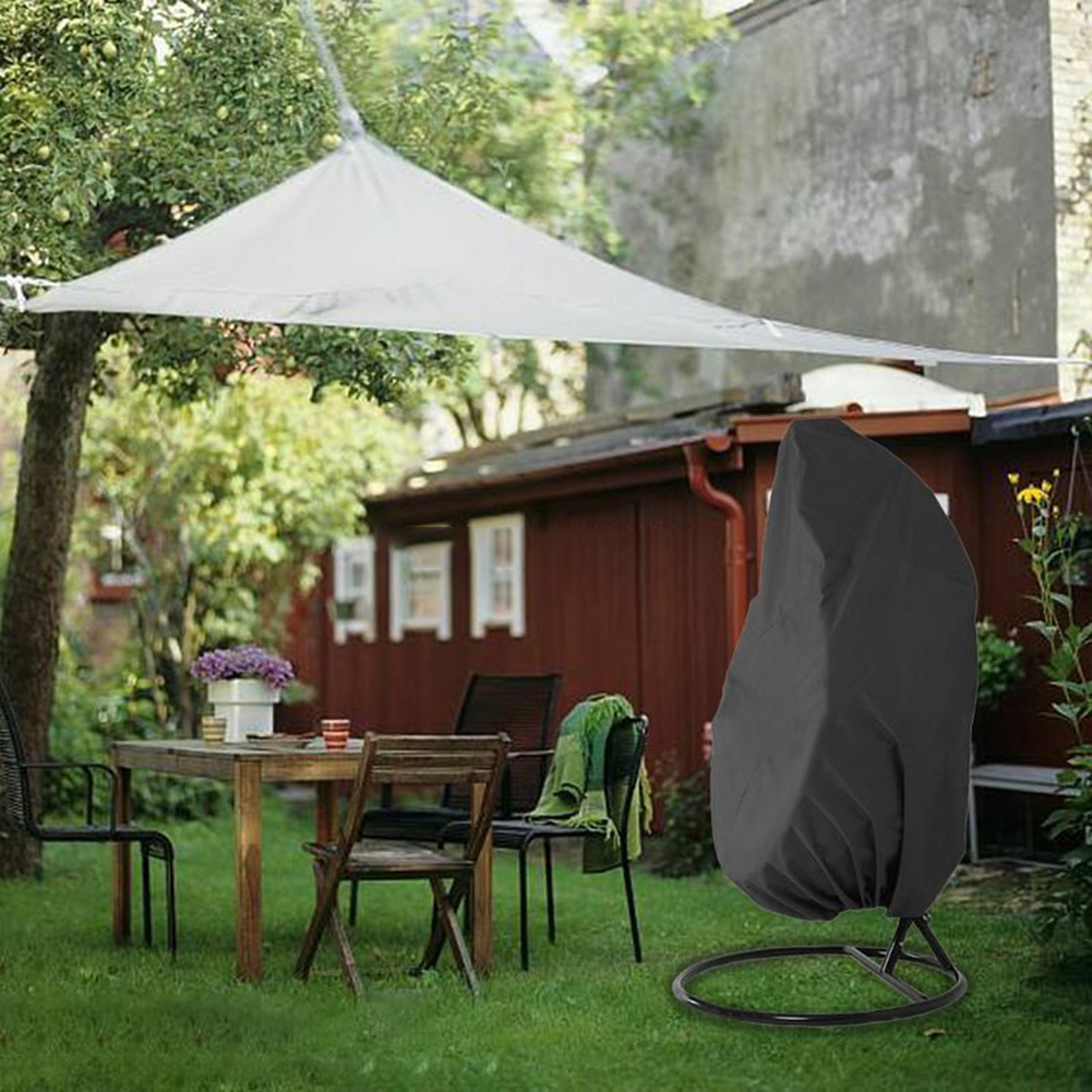 Rattan Swing Cover,Hanging Chair Cover Waterproof Egg Chair Cover Patio Garden Rattan Furniture Protector,190x115CM