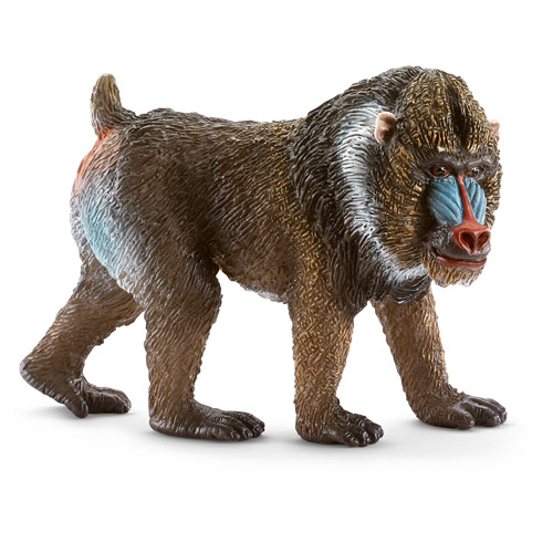 Schleich Mandrill Male Toy Animal