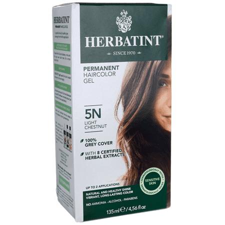 Herbatint Permanent Haircolor Gel 5N Light Chestnut 1 Box - Herbatint Hair Color Gel