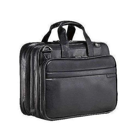 Work Leather Expandable Overnight Computer (Expandable Flap Computer Brief)