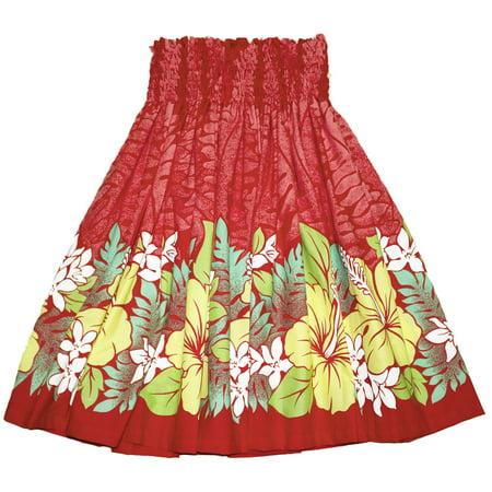 Rainbow Women's Hawaiian Pa'U Hula Skirt
