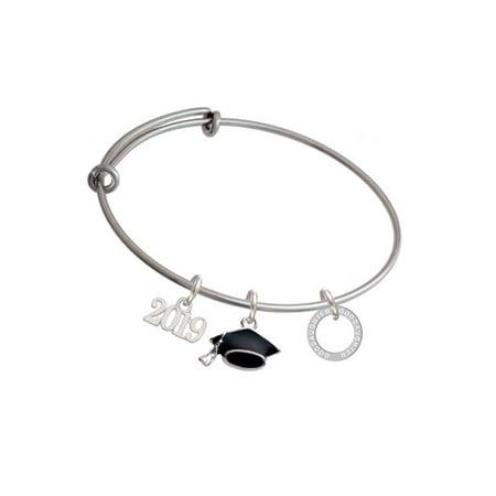 - Silvertone Goddaughter Eternity Ring - 2019 Graduation Charm Bangle Bracelet