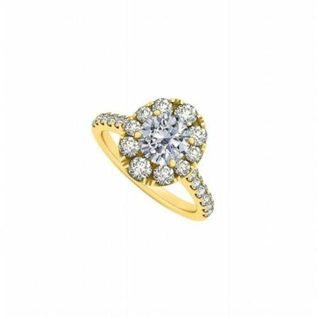 Fine Jewelry Vault Ubnr50582agvycz Halo Engagement Ring With April Birthstone Cz  44  18K Yellow Gold Vermeil   2 Ct Tgw