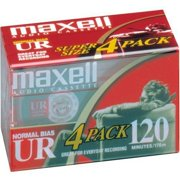Maxell UR-120 Blank Audio Cassette Tape - 4 pack