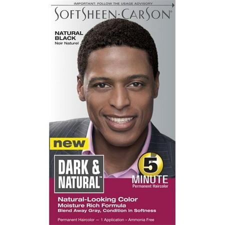 DDI Dark And Couleur des cheveux naturelle des hommes naturels Black- cas de 12