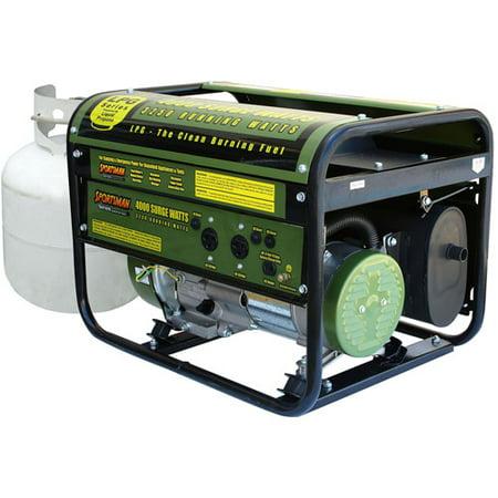 4000 Watt Portable Propane Generator - Green - Sportsman