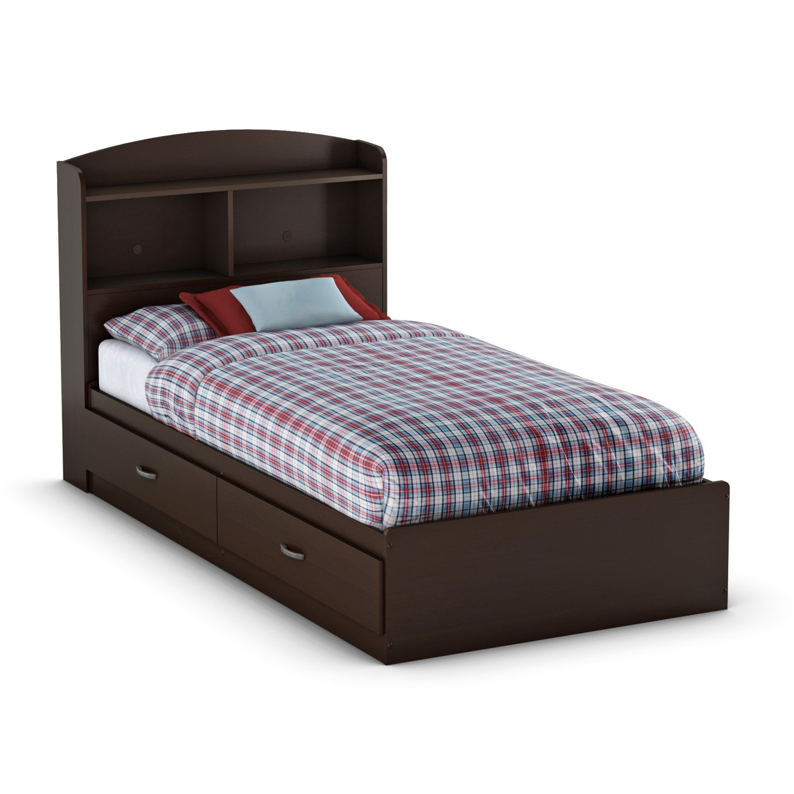South Shore Logik Bookcase Bed Collection - Chocolate