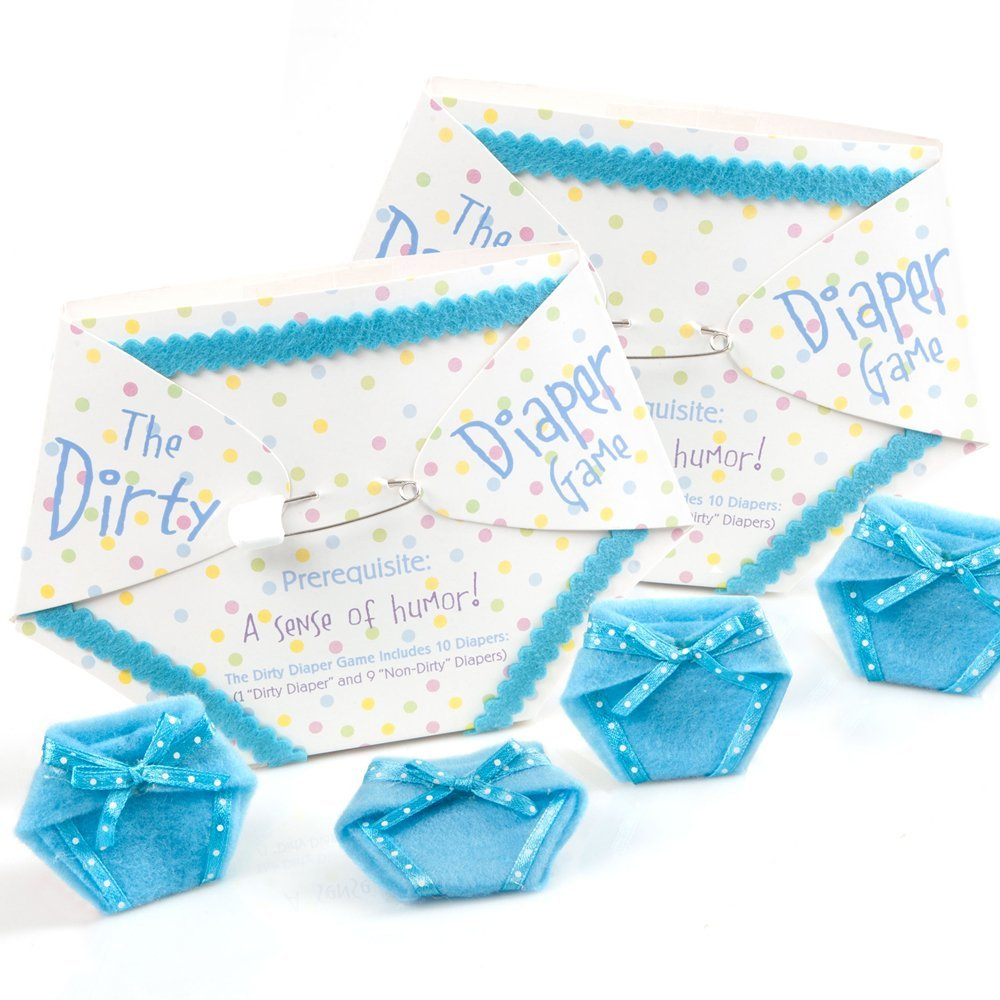 The Dirty Diaper Game   Baby Shower Game   Blue (20 Diapers)