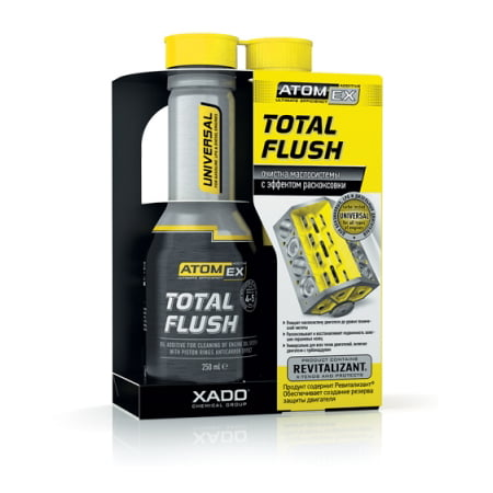 AtomEx TotalFlush Universal oil system cleaner with Anticarbon effect for Gasoline, LPG and Diesel