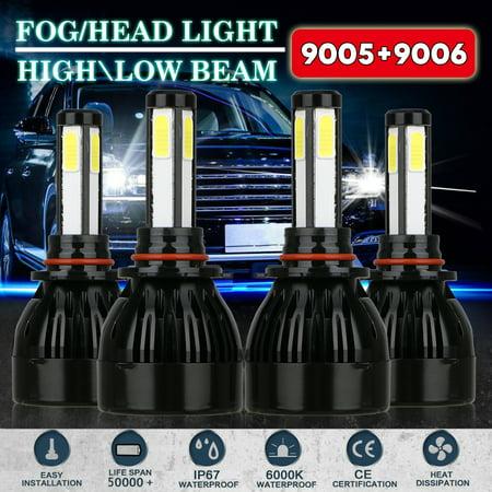 9006 9005 Low/High Beam Combo, TSV 160W 16000LM CREE LED Headlight Conversion Kit, 6000K 6K White, 4pcs Bulb Set