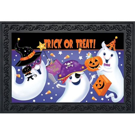 Trick or Treat Halloween Doormat Ghosts Candy Indoor Outdoor 18
