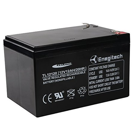enegitech 12v 12ah 20 hr sla battery rechargeable sealed lead acid