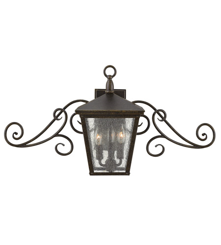 Outdoor Wall Sconces 1 Light With Regency Bronze Clear Seedy Glass Aluminum UNI-100 30 inch 15 Watts by RLA Hinkley