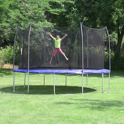 Skywalker Trampolines 16? Round Trampoline and Enclosure ? Blue