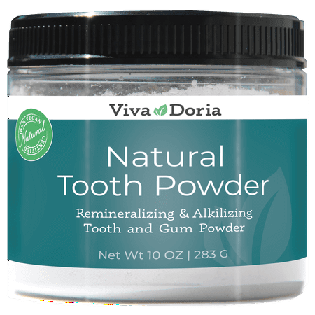 Viva Doria Natural Fluoride Free Tooth Powder, Refreshes mouth, Freshens Breath, Keeps Teeth and Gum Healthy, Mint Flavor, 10