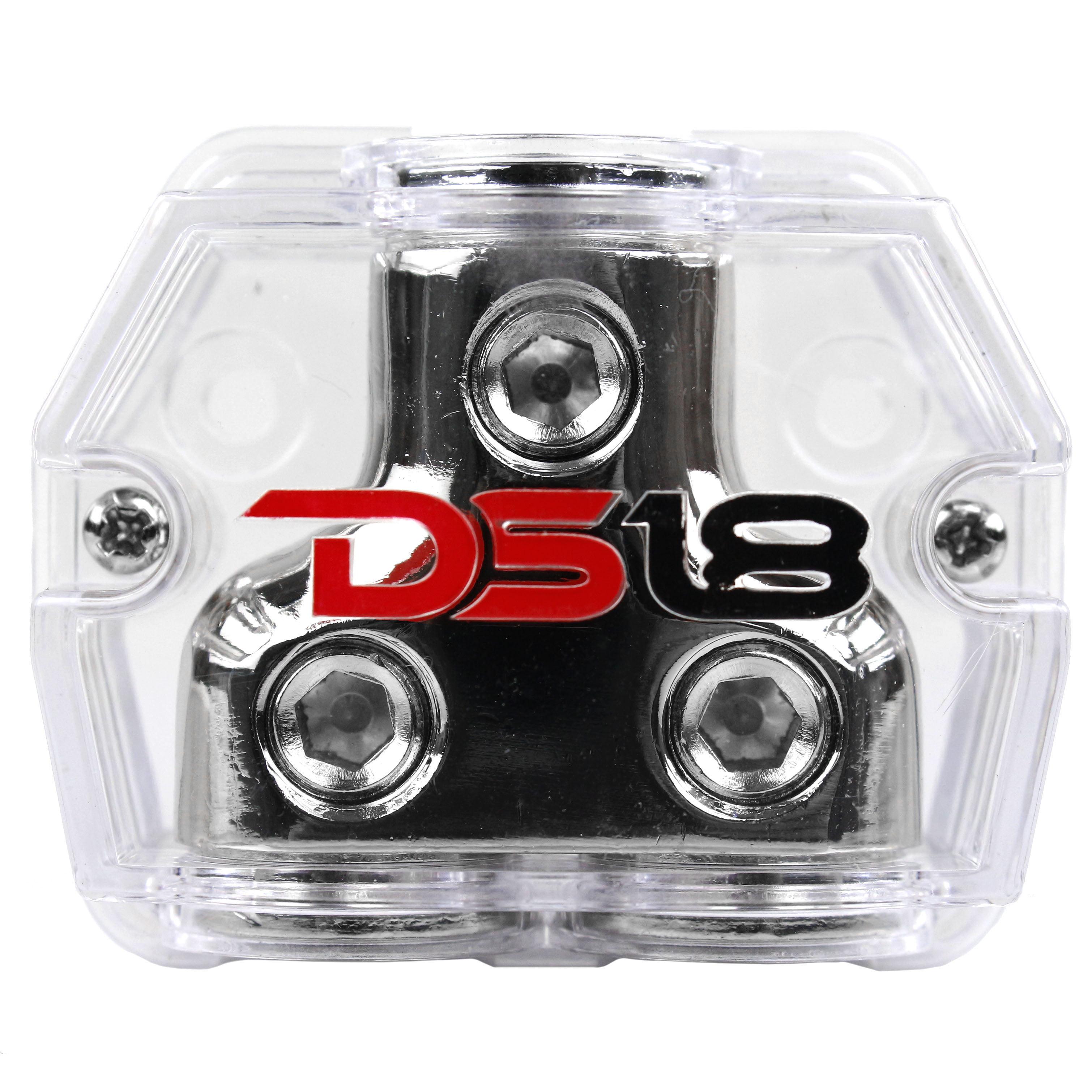 DS18 0 Gauge to Dual 0 Gauge Output Set Screw Ground Distribution Block AWG DB1020
