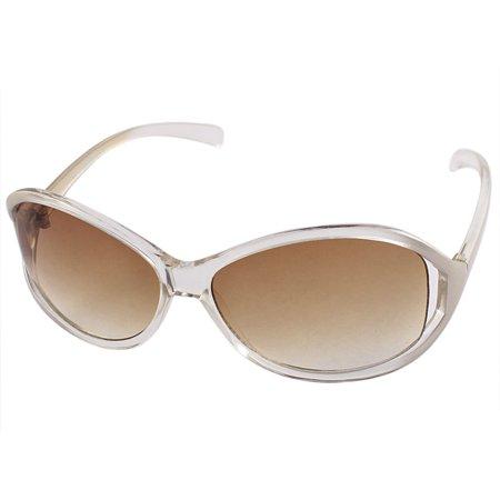 Yellow Plastic Frame Sunglasses : Unique Bargains Plastic Oval Yellow Lens Full Frame ...